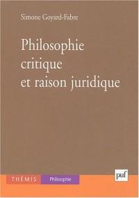 Philosophie critique et raison juridique