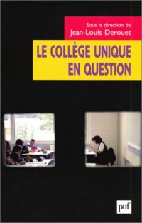Le collège unique en question