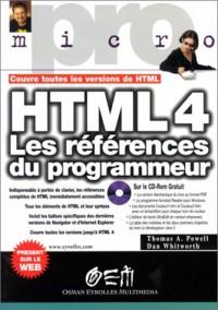 HTML 4, les références du programmeur