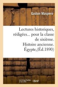 Lectures Historiques pour la Sixième  ed 1890