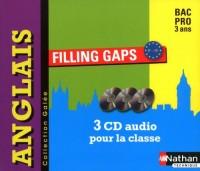 CD audio Filling gaps Anglais Bac Pro 3 ans