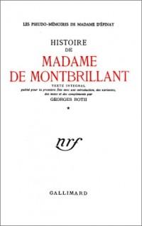 Histoire de Madame de Montbrillant, 3 volumes (livre non massicoté)