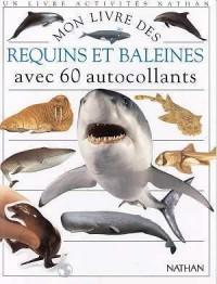 Mon livre des...  requins et baleines avec 60 autocollants