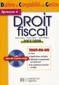Droit fiscal DCG 4 (1Cédérom)