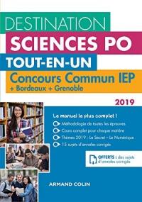 Destination Sciences Po - Concours commun IEP 2019 + Bordeaux + Grenoble : Tout-en-un (Destination Grandes Ecoles)
