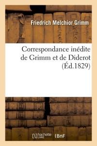 Correspondance Grimm Diderot  ed 1829