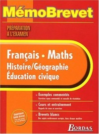 MEMO  SPECIAL BREVET TTES MATIERES    (Ancienne Edition)