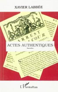 Actes authentiques