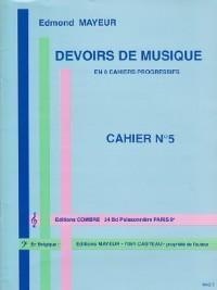 Devoirs de musique cahier 5