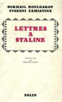 Lettres à Staline : Suivi de J'ai peur