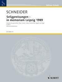 Seligpreisungen - in memoriam Leipzig 1989 - Text aus dem Matthäus-Evangelium, 5, 3-12 in der Übersetzung von Martin Luther - choeur mixte, trio à cordes, basson et orgue - Parties - ED 20692-70