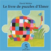 Le livre de puzzles d'Elmer (5 puzzles)