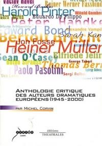 Anthologie critique des auteurs dramatiques européens
