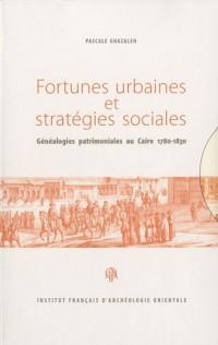 Fortunes urbaines et stratégies sociales : Généalogies patrimoniales au Caire, 1780-1830, 2 volumes