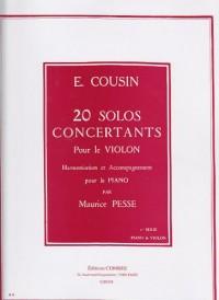 20 Solos concert. 1-10 Von/Po