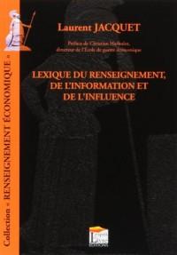 Lexique du renseignement, de l'information et de l'influence