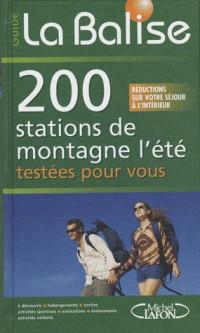 200 stations de montagne en été