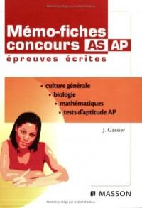 Mémo-fiches concours AS/AP : Epreuves écrites