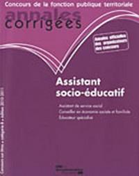 Assistant socio-éducatif 2010-2011, Catégorie B, Filière médico-sociale