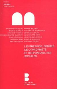 Entreprise, Formes de la Propriété et Responsabilite