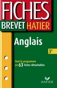 Fiches Brevet Hatier : Anglais, 3e
