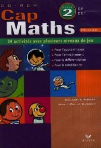 Cap Maths 2e Cycle, CP-CE : CD-ROM, 24 activités avec plusieurs niveaux de jeu