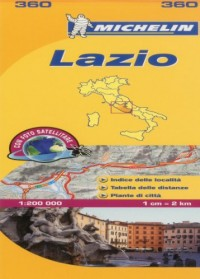 Michelin Map Lazio Italy: Lazio 360