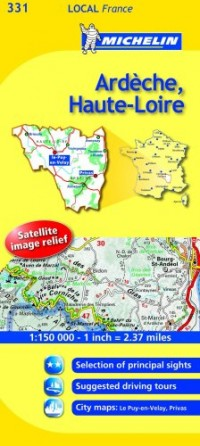 Michelin Map France: Ardche, Haute-loire 331