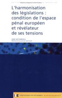 L'Harmonisation des législations : condition de l'espace pénal européen et révélateur de ses tensions