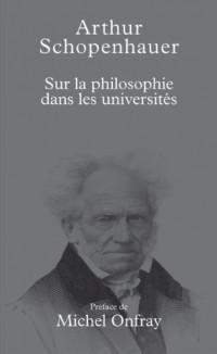 Sur la philosophie dans les universités