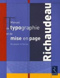 Manuel de typographie et de mise en page : Du papier à l'écran