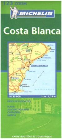Carte routière : Costa Blanca