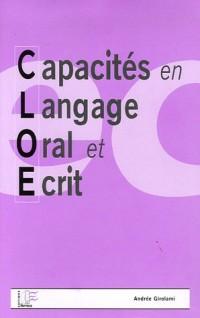 Capacités en langage oral et écrit : Bilan CLOE