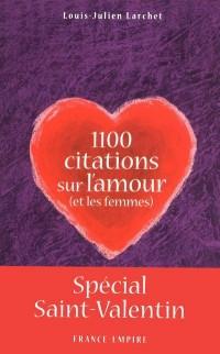 1100 CITATIONS SUR L'AMOUR