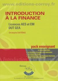Introduction a la Finance - Pack Enseignant (Pochette) - Licences Aes et Em, Dut Gea