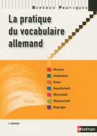 La pratique du vocabulaire allemand