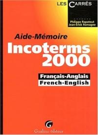 Aide-mémoire Incoterms 2000 français-anglais et french-english