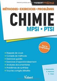 Chimie MPSI-PTSI : Méthode. Exercices. Problèmes