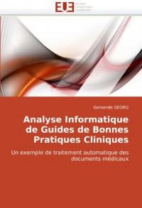 Analyse Informatique de Guides de Bonnes Pratiques Cliniques