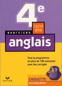 Chouette Entraînement : Anglais, de la 4e à la 3e - 13-14 ans (+ corrigés)