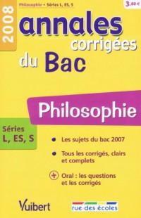 Philosophie séries L, ES, S : Annales corrigées du Bac