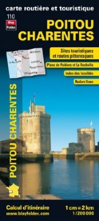 Poitou Charentes, carte régionale, routière et touristique