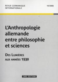 Anthropologie Allemande Entre Philosoph