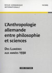 Anthropologie Allemande Entre Philosoph