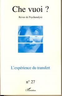 Che vuoi ?, N° 27, 2007 : L'expérience du transfert