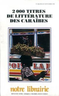 106- 2000 Titres de Litterature des Caraïbes