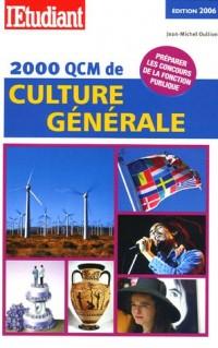 2000 QCM de culture générale