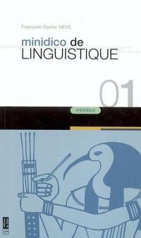 Minidico de linguistique et des langues