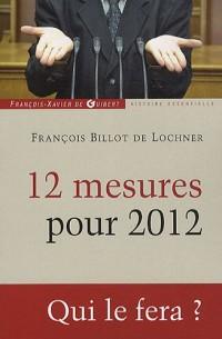 12 mesures pour 2012