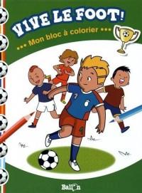 Mon bloc à colorier - Le foot